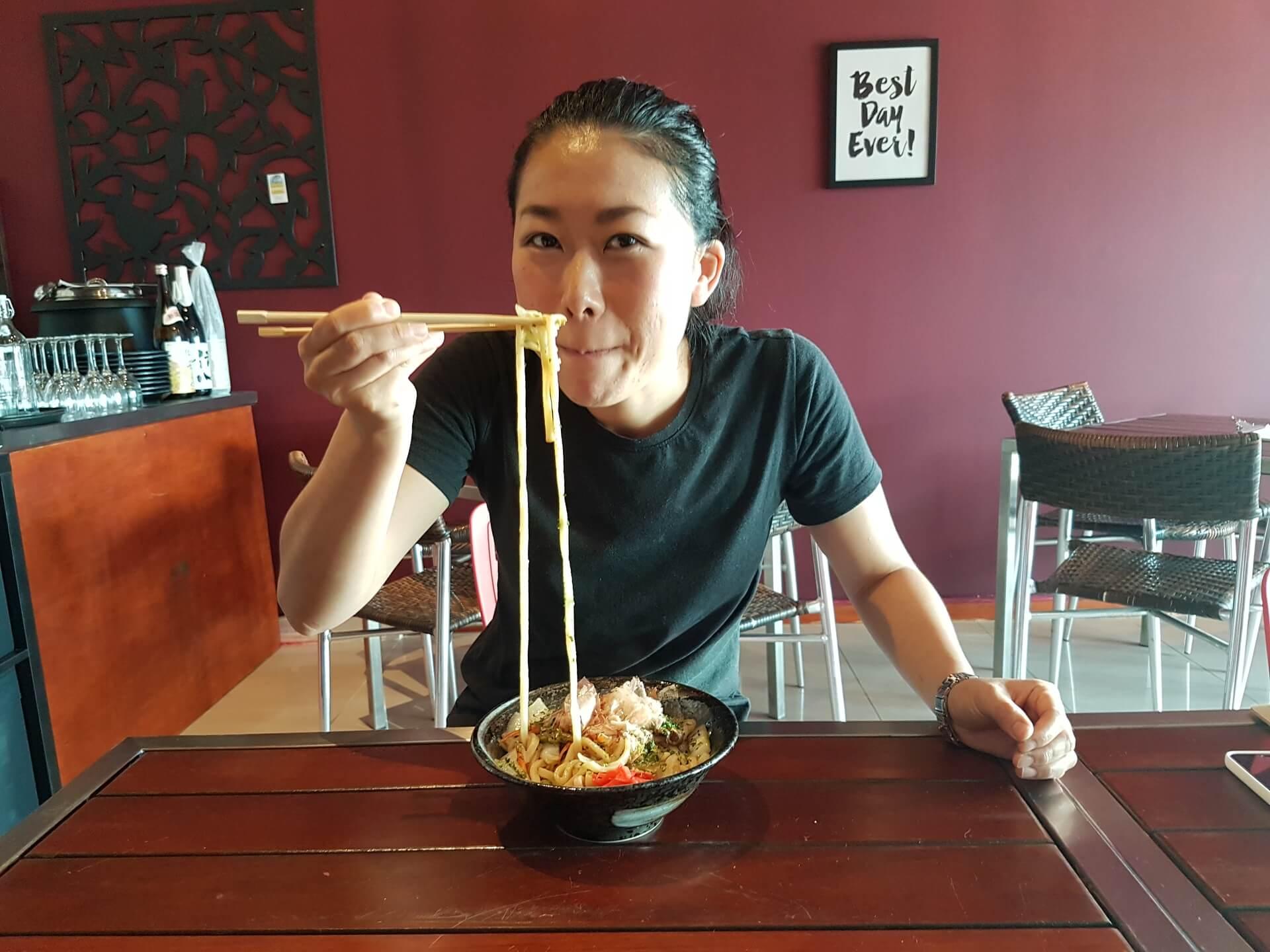 Tomoka and Udon Noodles